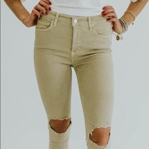 Free People Busted Knee in Khaki